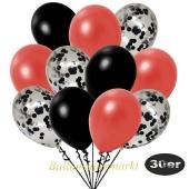 luftballons-30er-pack-10-schwarz-konfetti-und-10-metallic-warmrot-10-metallic-schwarz
