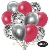luftballons-30er-pack-10-silber-konfetti-und-10-metallic-rot-10-chrome-silber