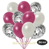 luftballons-30er-pack-10-silber-konfetti-und-10-metallic-burgund-10-metallic-weiss