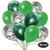 luftballons-30er-pack-10-silber-konfetti-und-10-metallic-gruen-10-chrome-gruen