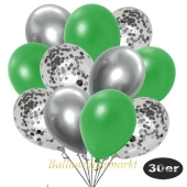 luftballons-30er-pack-10-silber-konfetti-und-10-metallic-gruen-10-chrome-silber