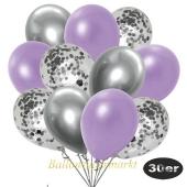 luftballons-30er-pack-10-silber-konfetti-und-10-metallic-lila-10-chrome-silber