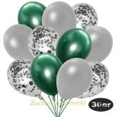 luftballons-30er-pack-10-silber-konfetti-und-10-metallic-silber-10-chrome-gruen