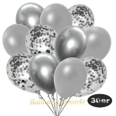luftballons-30er-pack-10-silber-konfetti-und-10-metallic-silber-10-chrome-silber