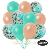 luftballons-30er-pack-10-tuerkis-konfetti-und-10-metallic-aquamarin-10-metallic-lachs