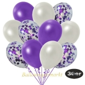 luftballons-30er-pack-10-violett-konfetti-und-10-metallic-weiss-10-metallic-violett