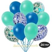 luftballons-30er-pack-5-blau-5-aquamarin-konfetti-und-10-metallic-blau-10-metallic-aquamarin