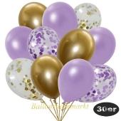 luftballons-30er-pack-5-flieder-5-gold-konfetti-und-10-metallic-lila-10-chrome-gold