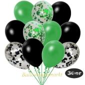 luftballons-30er-pack-5-gruen-5-schwarz-konfetti-und-10-metallic-gruen-10-metallic-schwarz