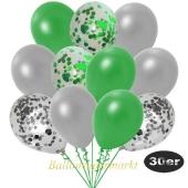 luftballons-30er-pack-5-silber-konfetti-5-gruen-konfetti-und-10-metallic-gruen-10-metallic-silber
