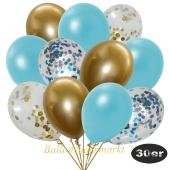 luftballons-30er-pack-5-hellblau-5-gold-konfetti-und-10-metallic-hellblau-10-chrome-gold