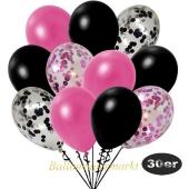 luftballons-30er-pack-5-pink-konfetti-5-schwarz-konfetti-und-10-metallic-pink-10-metallic-schwarz