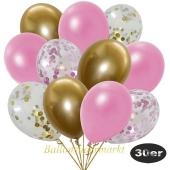 luftballons-30er-pack-5-rosa-5-gold-konfetti-und-10-metallic-rose-10-chrome-gold