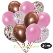 luftballons-30er-pack-5-rosegold-5-rosa-konfetti-und-10-metallic-rose-10-chrome-kupfer
