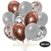 luftballons-30er-pack-5-rosegold-5-silber-konfetti-und-10-metallic-silber-10-chrome-kupfer