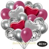 luftballons-30er-pack-9-silber-konfetti-und-9-metallic-burgund-8-chrome-silber-2-folienballons-silber-2-folienballons-burgund