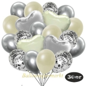 luftballons-30er-pack-9-silber-konfetti-und-9-metallic-elfenbein-8-chrome-silber-2-folienballons-silber-2-folienballons-elfenbein