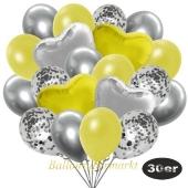 luftballons-30er-pack-9-silber-konfetti-und-9-metallic-gelb-8-chrome-silber-2-folienballons-silber-2-folienballons-gelb