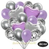 luftballons-30er-pack-9-silber-konfetti-und-9-metallic-lila-8-chrome-silber-2-folienballons-silber-2-folienballons-flieder