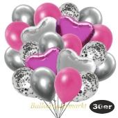 luftballons-30er-pack-9-silber-konfetti-und-9-metallic-pink-8-chrome-silber-2-folienballons-silber-2-folienballons-pink
