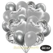 luftballons-30er-pack-9-silber-konfetti-und-9-metallic-silber-8-chrome-silber-4-folienballons-silber
