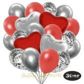 luftballons-30er-pack-9-silber-konfetti-und-9-metallic-warmrot-8-chrome-silber-2-folienballons-silber-2-folienballons-rot