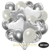 luftballons-30er-pack-9-silber-konfetti-und-9-metallic-weiss-8-chrome-silber-2-folienballons-silber-2-folienballons-weiss