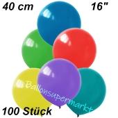Luftballons 40 cm, Bunt gemischt, 100 Stück