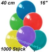 Luftballons 40 cm, Bunt gemischt, 1000 Stück