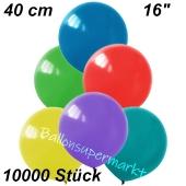 Luftballons 40 cm, Bunt gemischt, 10000 Stück