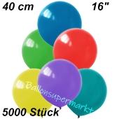 Luftballons 40 cm, Bunt gemischt, 5000 Stück