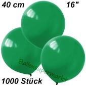 Luftballons 40 cm, Dunkelgrün, 1000 Stück