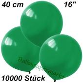 Luftballons 40 cm, Dunkelgrün, 10000 Stück