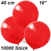 Luftballons 40 cm, Dunkelrot, 10000 Stück