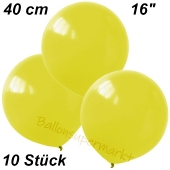 Luftballons 40 cm, Gelb, 10 Stück