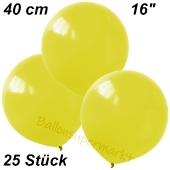 Luftballons 40 cm, Gelb, 25 Stück