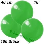 Luftballons 40 cm, Grün, 100 Stück