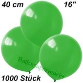 Luftballons 40 cm, Grün, 1000 Stück