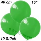 Luftballons 40 cm, Grün, 10 Stück