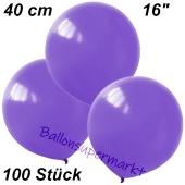 Luftballons 40 cm, Lavendel, 100 Stück