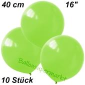 Luftballons 40 cm, Limonengrün, 10 Stück