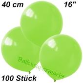 Luftballons 40 cm, Limonengrün, 100 Stück