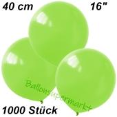 Luftballons 40 cm, Limonengrün, 1000 Stück