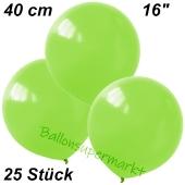 Luftballons 40 cm, Limonengrün, 25 Stück