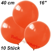Luftballons 40 cm, Orange, 10 Stück