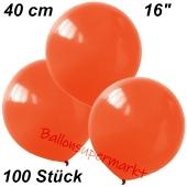 Luftballons 40 cm, Orange, 100 Stück