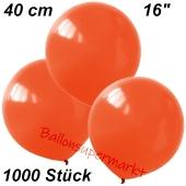 Luftballons 40 cm, Orange, 1000 Stück