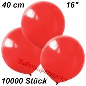 Luftballons 40 cm, Rot, 10000 Stück
