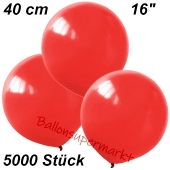 Luftballons 40 cm, Rot, 5000 Stück