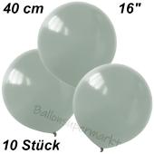 Luftballons 40 cm, Silbergrau, 10 Stück